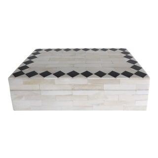 Tessellated Bone & Stone Box
