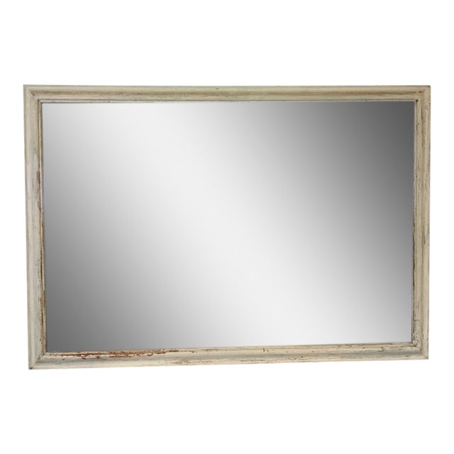 Shabby Chic White Wooden Frame Mirror - Image 1 of 4