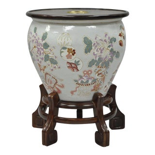 Drexel Heritage Ming Treasures Porcelain Chinese Urn Pedestal Dining Table Base For Sale