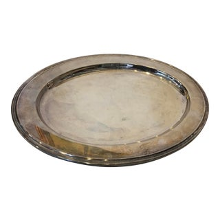 Vintage International Silverplate Oval Tray For Sale