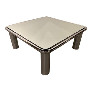 1970s Italian Mario Bellini for B & B Italia Mirrored Chrome Coffee Table For Sale