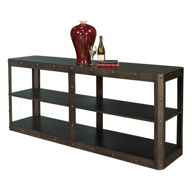 Sarreid LTD Elaine Metal Shelf - Image 5 of 6