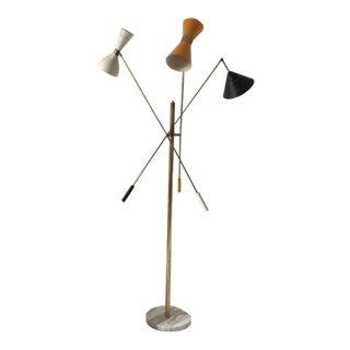Triennale Angelo Lelli Style Floor Lamp For Sale