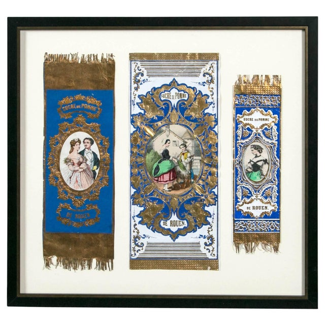 """Late 19th Century Antique Advertising or Display Banners """"Sucre De Pomme,"""" France, Circa 1880 For Sale - Image 5 of 5"""