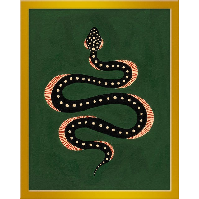"Contemporary Small ""Apple the Snake"" Print by Willa Heart, 16"" X 20"" For Sale - Image 3 of 3"