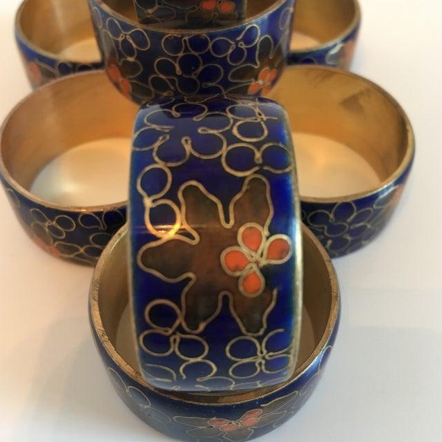 Blue Cloisonné Napkin Rings - Set of 8 - Image 3 of 8