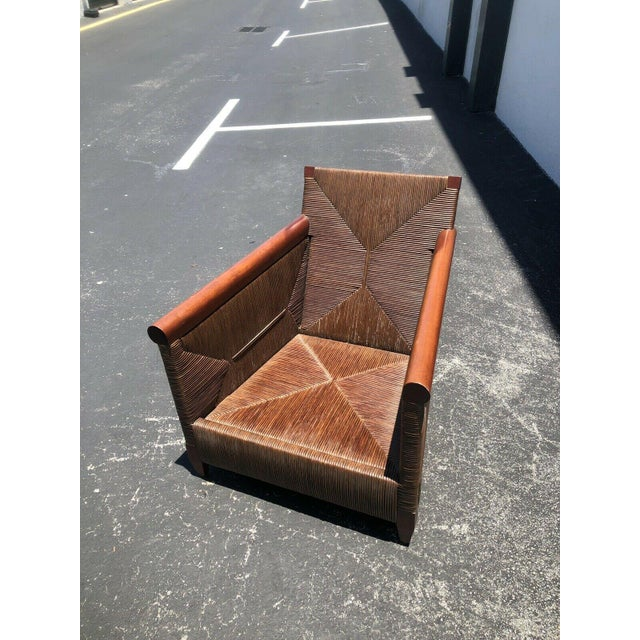 Donghia Wicker Lounge Chairs by John Hutton - a Pair For Sale In Miami - Image 6 of 9