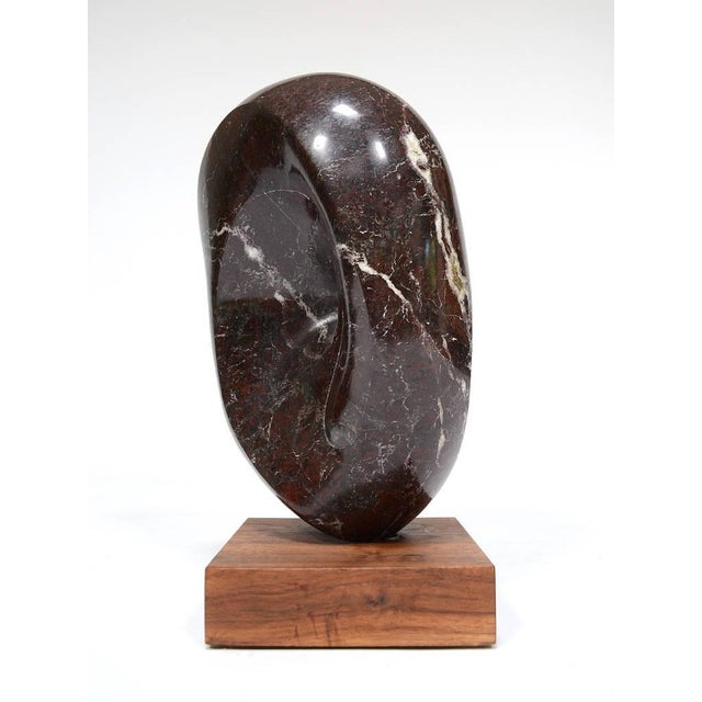 Abstract Marble Sculpture in the Manner of Barbara Hepworth For Sale - Image 9 of 11