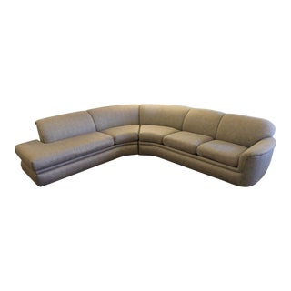 Mid-Century Modern Milo Baughman for Thayer Coggin Two Piece Sectional Sofa Grey For Sale