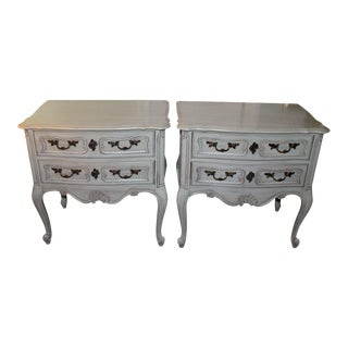 Hickory Chair French Side Tables - A Pair For Sale