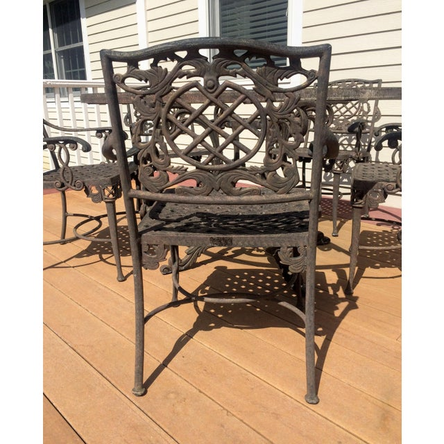 Cast Classics Outdoor Table & Arm Chairs - Set of 6 - Image 6 of 11