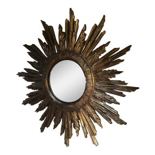 John-Richard Convex Sunburst Wall Mirror For Sale