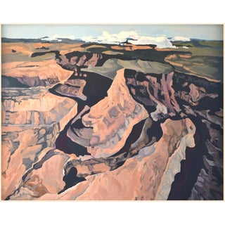 American Expressionist 'Grand Canyon Bend' Oil Painting From the Red Rock Canyon Series by George Brinner For Sale