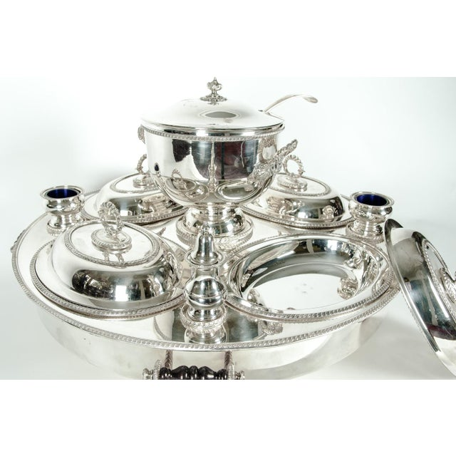 Mid 20th Century English Silver Plated Revolving Serving Dish Set of 9 For Sale - Image 5 of 12