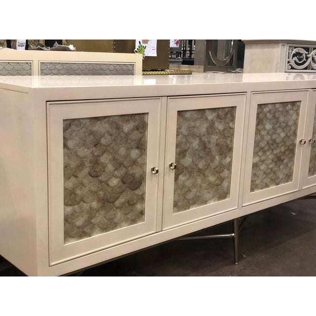 Contemporary Contemporary Salon 4-Door Buffet With Inset Capiz Shells For Sale - Image 3 of 4