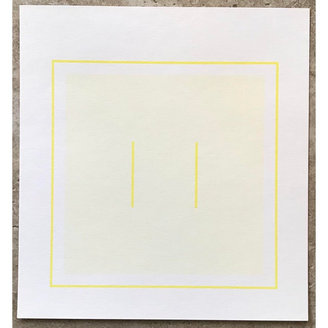 1970s Geometric #1 Serigraph Signed by Antonio Calderara For Sale In Palm Springs - Image 6 of 6