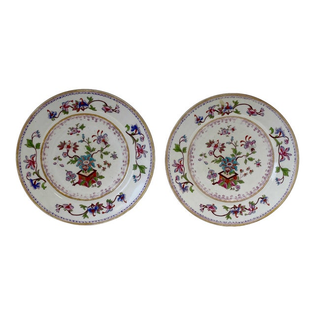 Antique Chinese Plates - a Pair For Sale