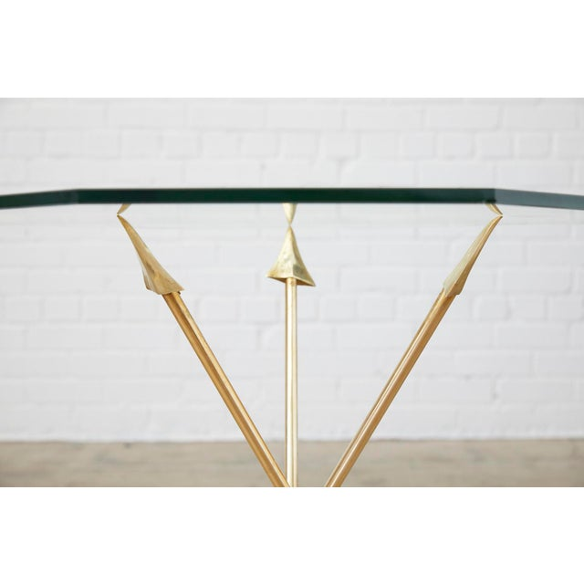Maison Jansen Pair of Maison Jansen Style Directoire Arrow Drink Tables For Sale - Image 4 of 13