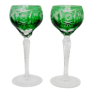 Bohemian Crystal Stemware - a Pair For Sale