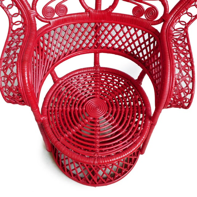 2020s Tomato Bunga Peacock Chair For Sale - Image 5 of 7