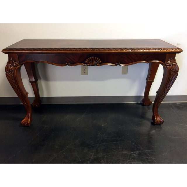 Chippendale Mahogany Inlaid Console Sofa Table - Image 8 of 11