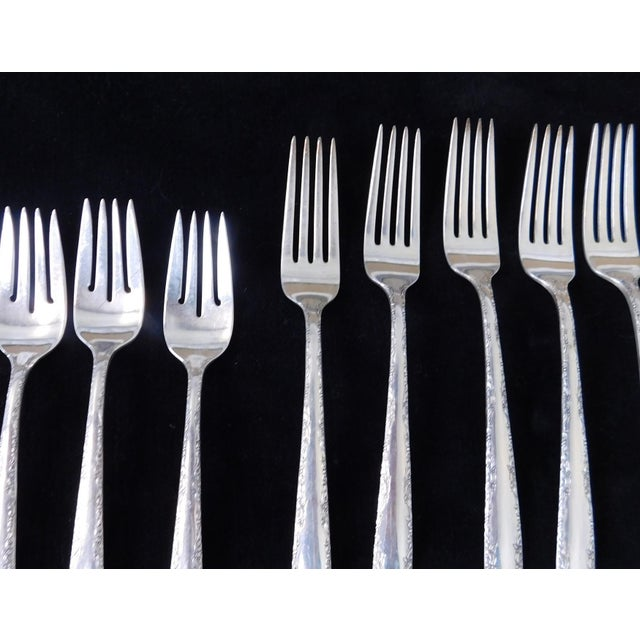 Silver Traditional 1960s Sterling Silver Gorham Camellia Flatware Set - 74 Pieces For Sale - Image 8 of 11