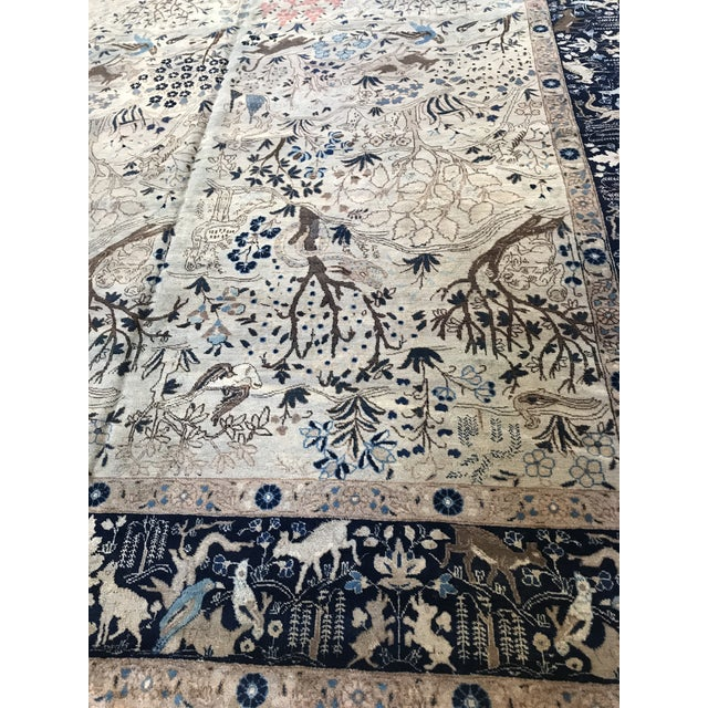 Antique Tabriz Pictorial Wool Rug - 9′4″ × 12′4″ For Sale In San Francisco - Image 6 of 11