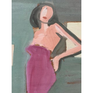 C 1950s Gouache Bay Area Figurative Movement Painting For Sale