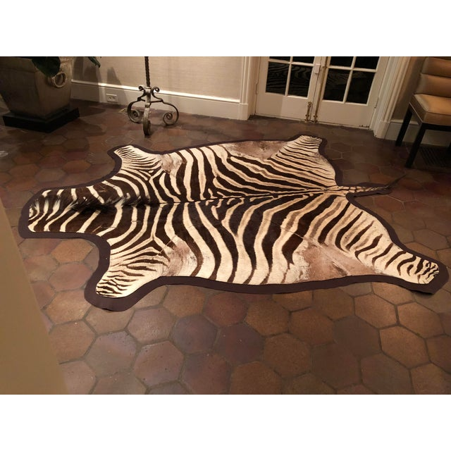 Mid-Century Modern 1960s Vintage Burchell Zebra Rug For Sale - Image 3 of 12