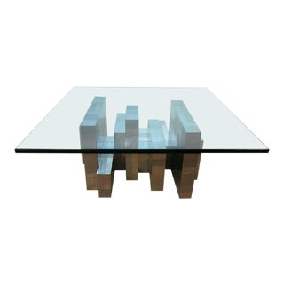 Paul Evans for Directional Ten Segment Chrome Coffee Table