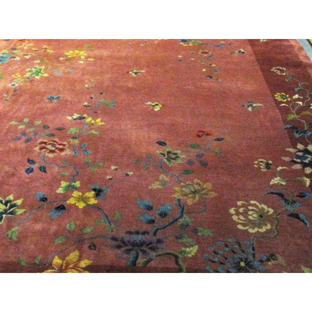 """Antique Art Deco Chinese Oriental Rug-8'8""""' X 11'3"""" For Sale In Chicago - Image 6 of 10"""