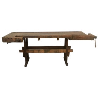 Antique European Carpentry Table For Sale