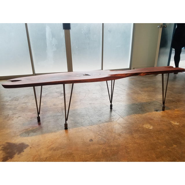 Contemporary Lychee Live Edge Slab Wood Coffee Table For Sale - Image 3 of 6