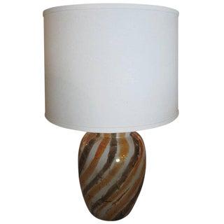 Glazed Ceramic Lamp For Sale