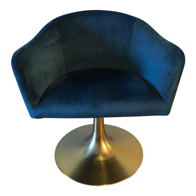 "West Elm ""Bond"" Upholstered Swivel Chair For Sale"