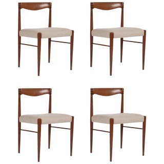Teak Dining Chairs Designed by h.w. Klein-Set of 4 For Sale