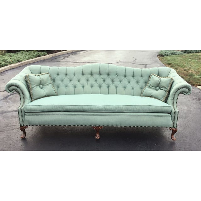 Early to Mid-Century Camelback Tufted Sofa - Image 2 of 6
