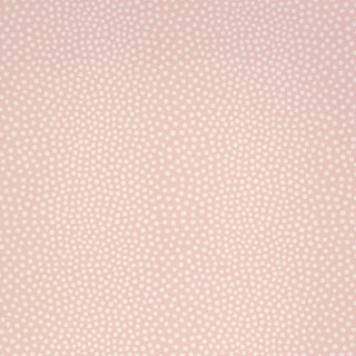 Schumacher Raindots Wallpaper in Washed Pink For Sale