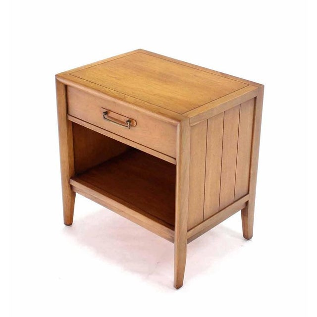 Drexel Pair of Mid-Century One Drawer Nightstands by Drexel For Sale - Image 4 of 8