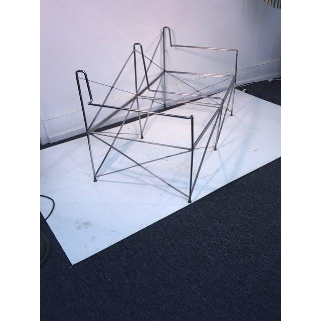 Silver Exceptional Molecular Design Tubular Chrome Modernist Loveseat For Sale - Image 8 of 9