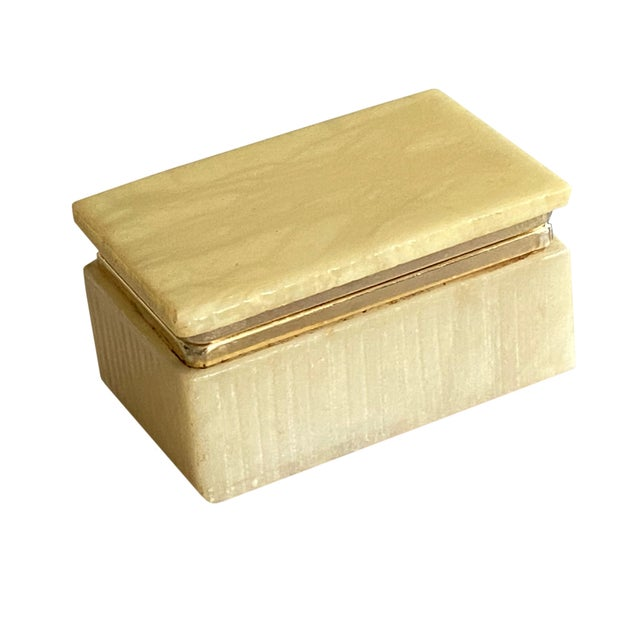 Early 20th Century Art Deco Italian Alabaster Box For Sale - Image 5 of 7