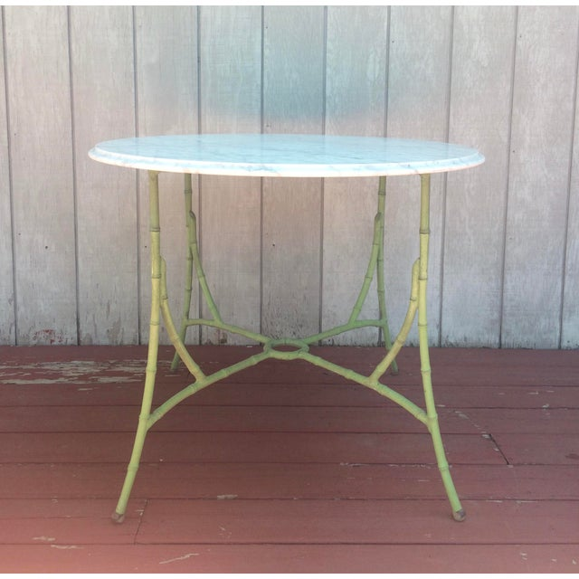 Marble Top Bistro Table - Image 4 of 8