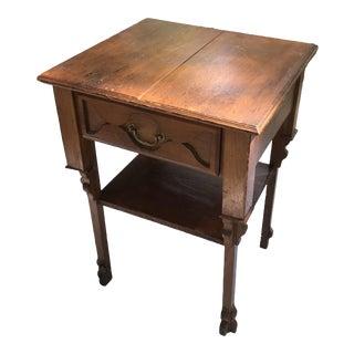 Vintage Primitive Side Table