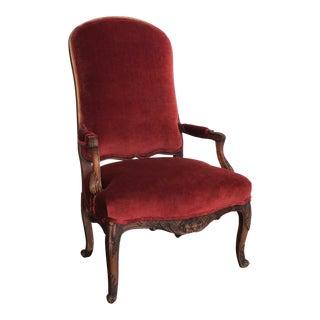 1930s Vintage Velvet Chair