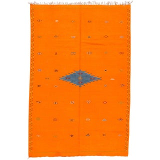 "Apadana - Vintage Moroccan Kilim, 6'7"" x 9'11"" For Sale"
