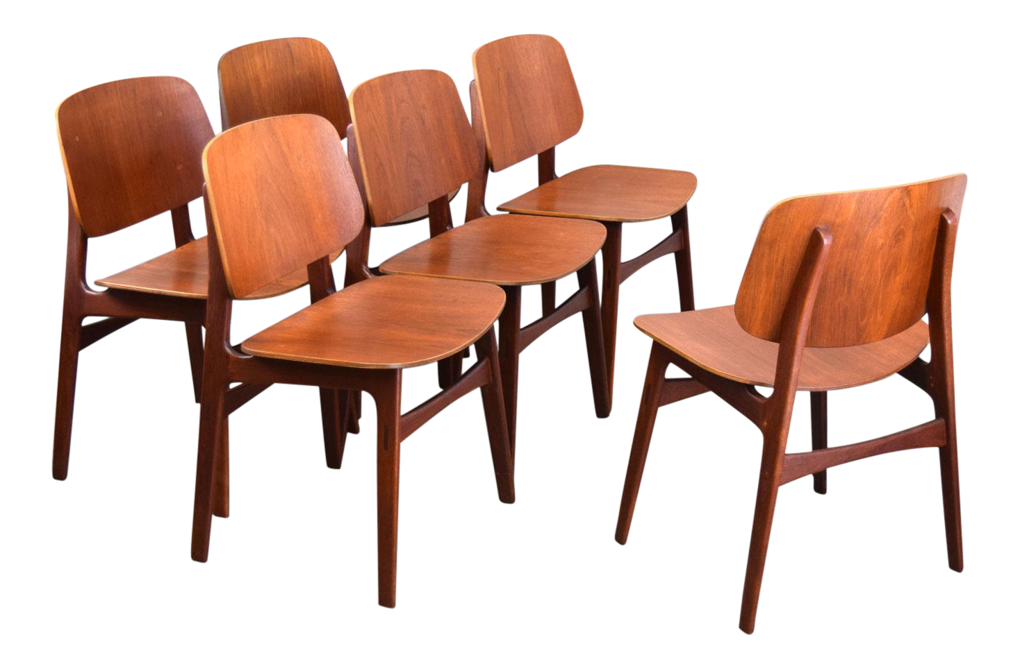 155 Søborg Mobelfabrik Teak Dining Chairs   Set/6