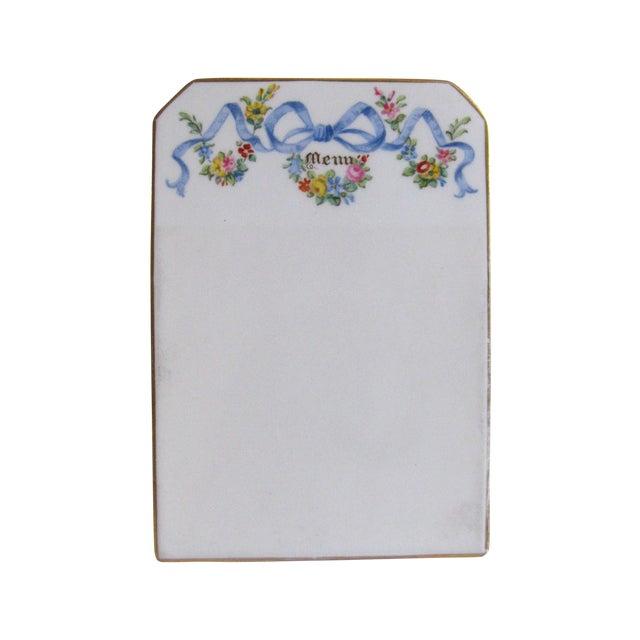 Antique English Copeland Spode Menu Board - Image 1 of 6