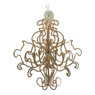 Bohemian Contemporary Coco Bead Chandelier For Sale