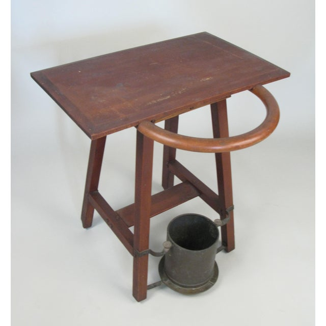 Rustic Vintage Rustic 1940s Hall Table Umbrella Stand For Sale - Image 3 of 7