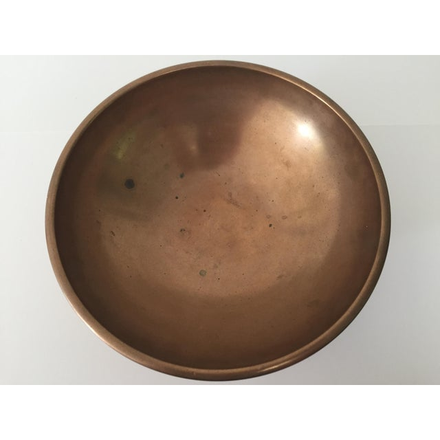 Chinese Vintage Chinese Bronze Footed Bowl For Sale - Image 3 of 6